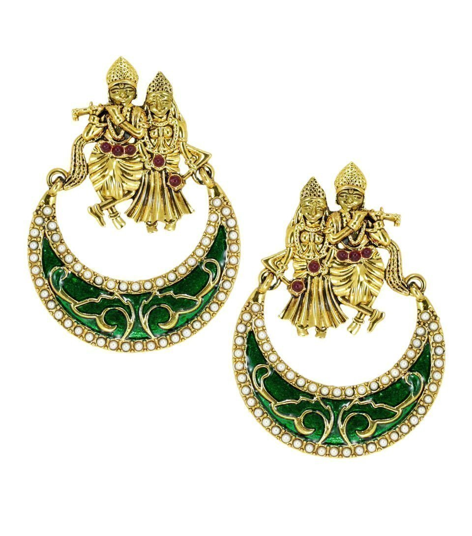 Lord Radha-Krishna Temple Earring