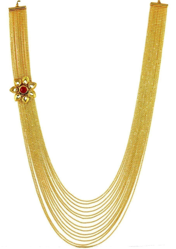 Zaveri Pearls Multi Strand With Side Broach Haram Necklace