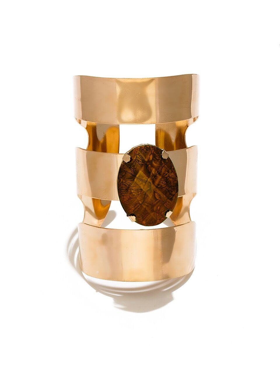 Metallic Blast Cuff - Brown
