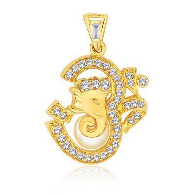 Divine Om Gold Plated Pendant