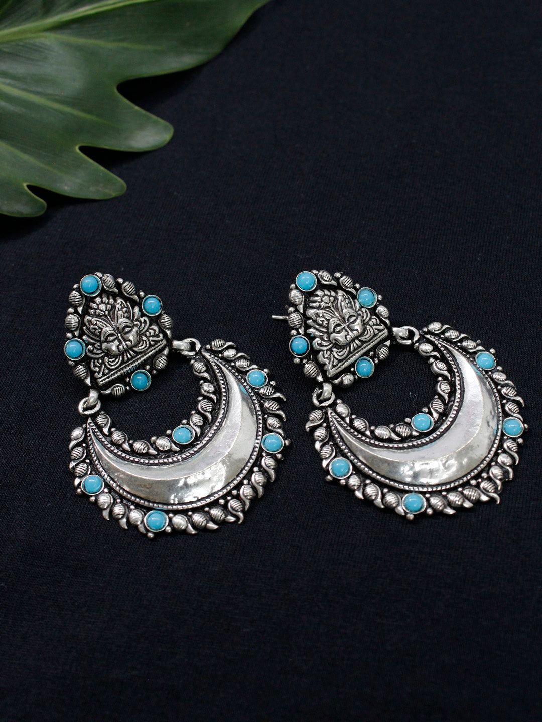 Oxidised German Silver  Dangler Earring