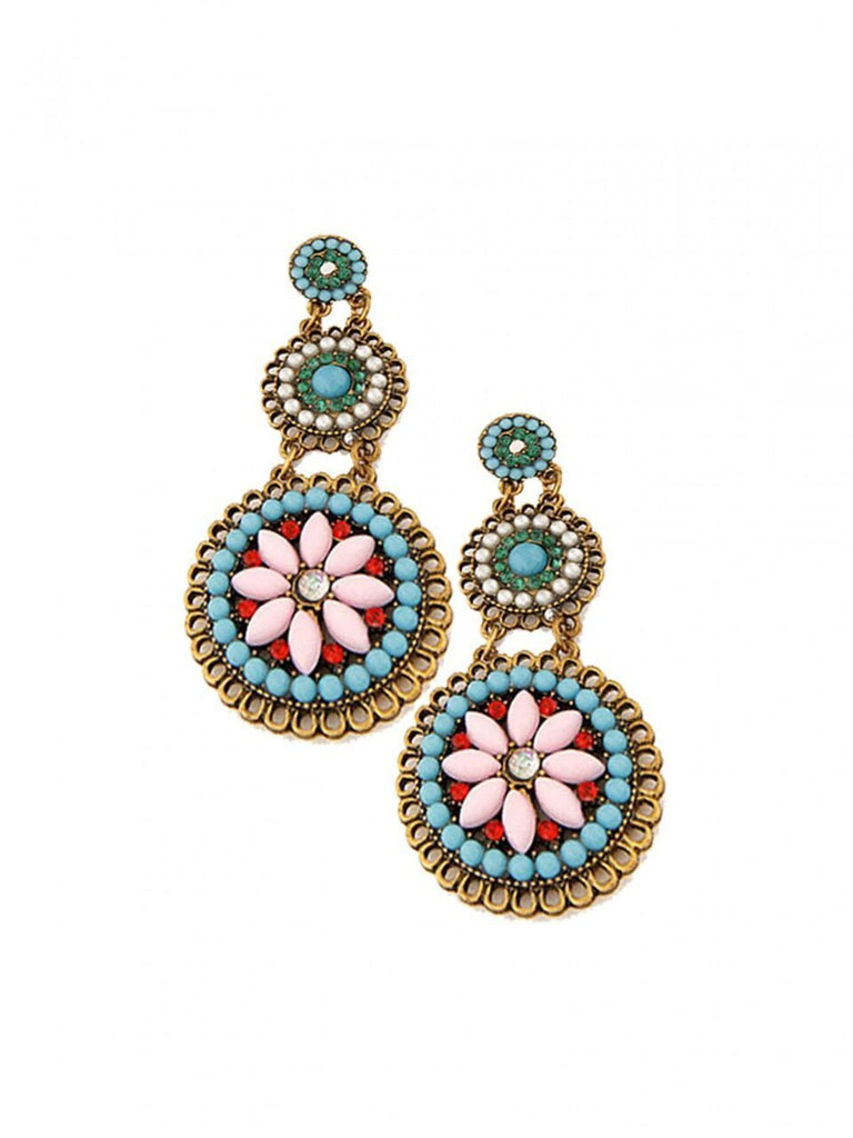 Ethnic Floral Earrings