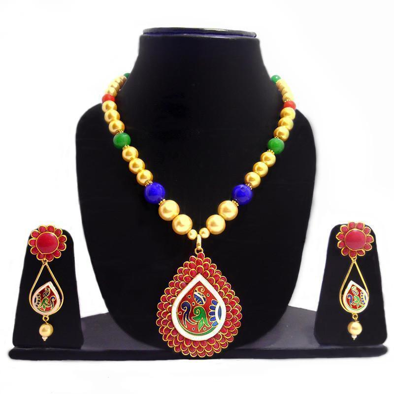 Beautiful Multicolour Pachi Necklace