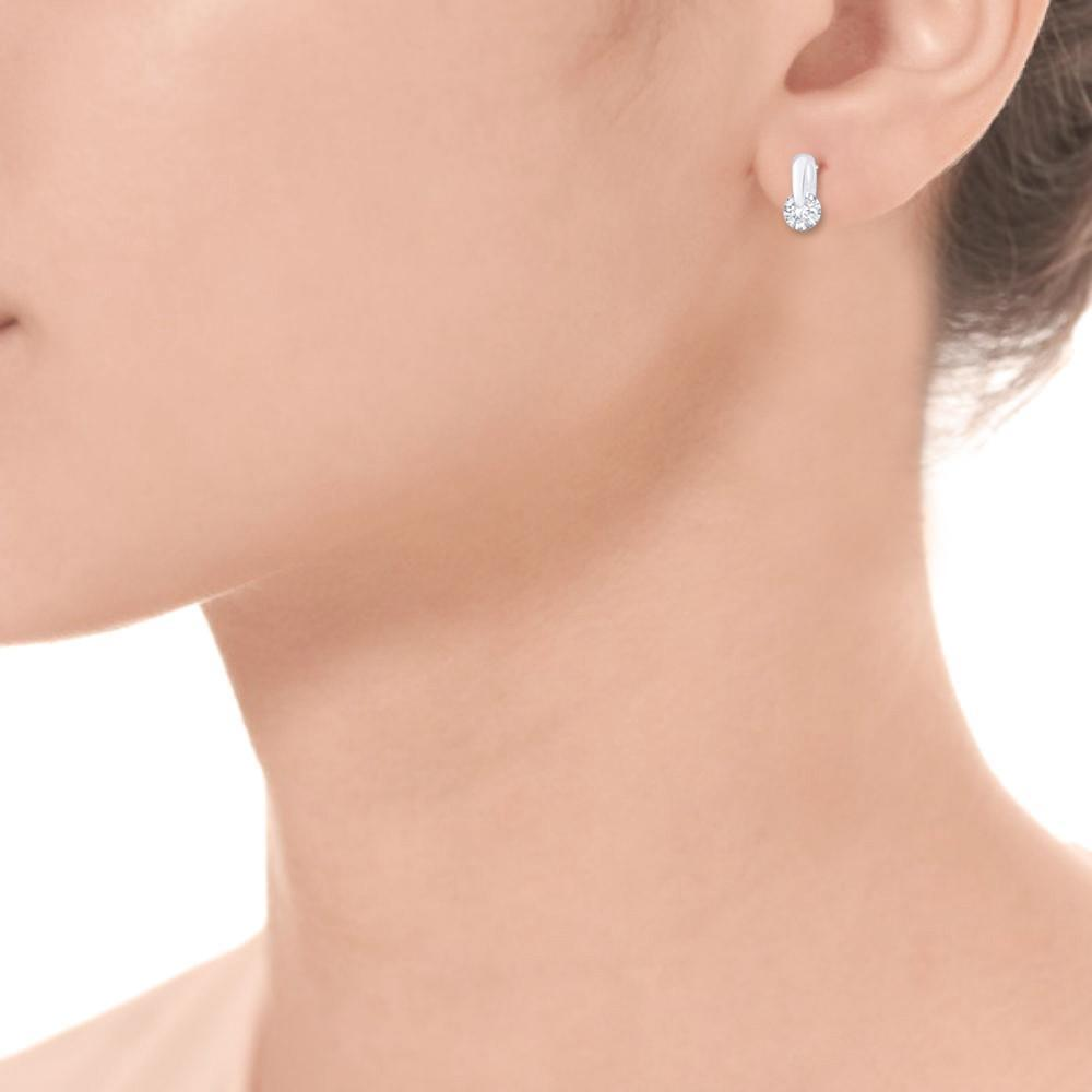 Solitaire Drop Earrings