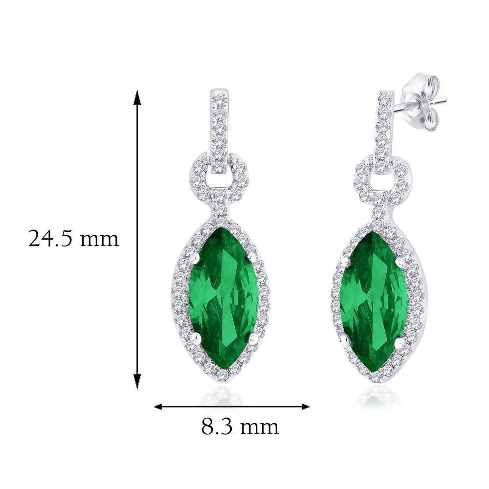 Imperial Green Danglers For Party Wear