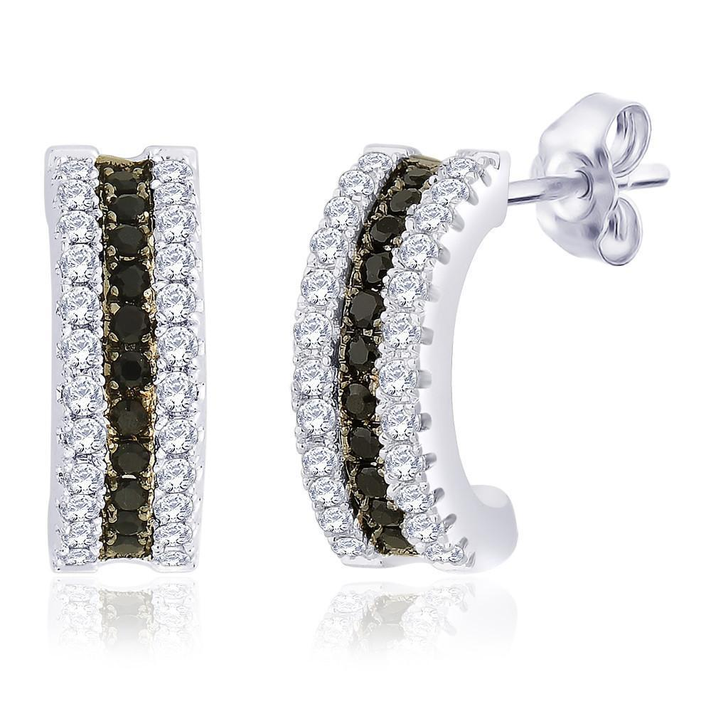 Stylish J Huggie Earrings For Party Wear