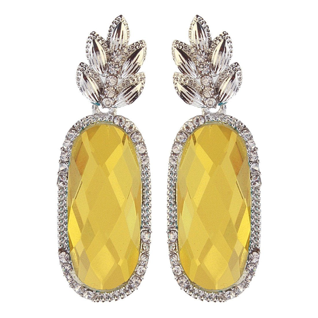 Citrus Yellow Glass Danglers