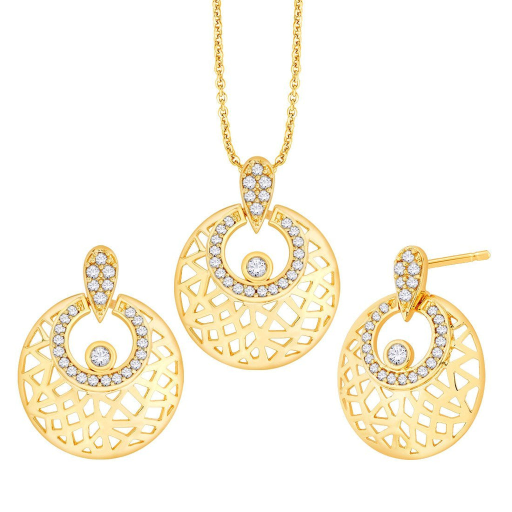 Criss Cross Pendant Set