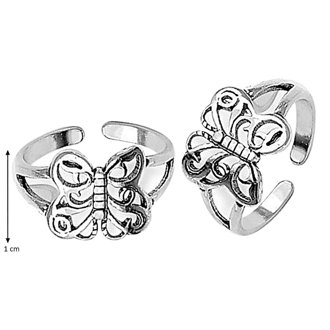 Artistic Butterfly Toe Rings
