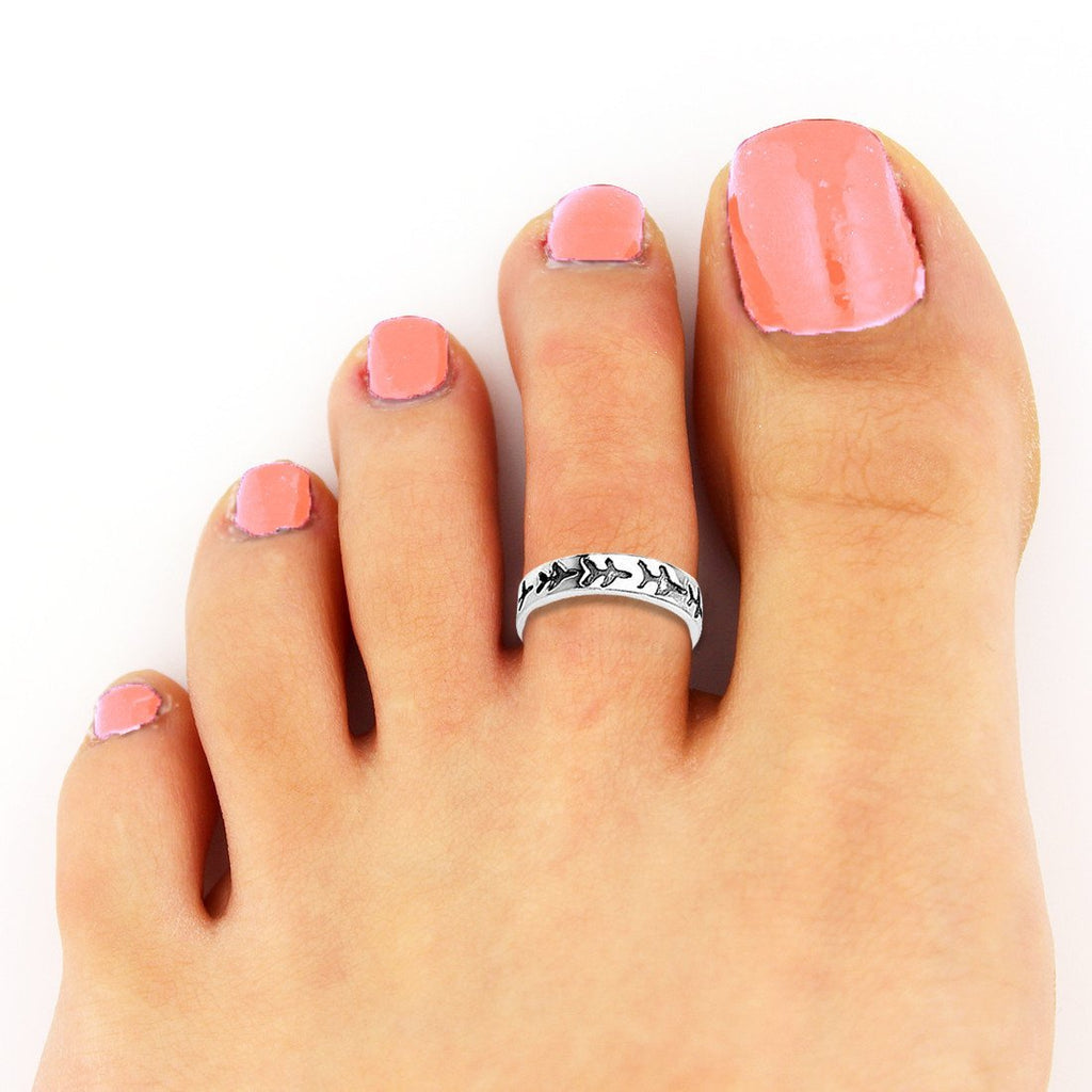 Airplane Toe Rings