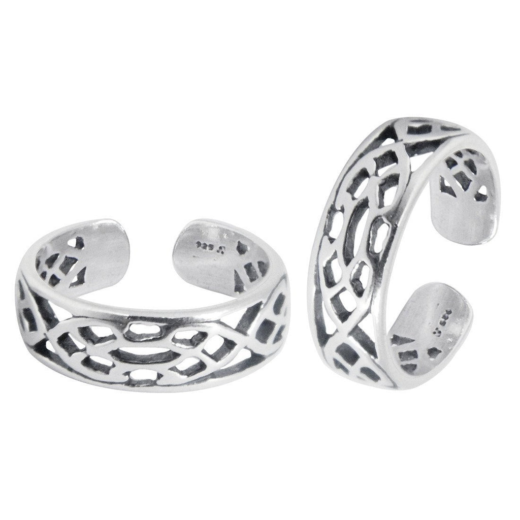 Modern Cutwork Toe Rings