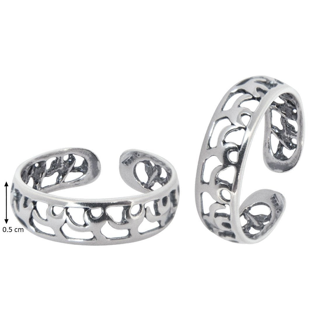 Trendy Cutwork Toe Rings