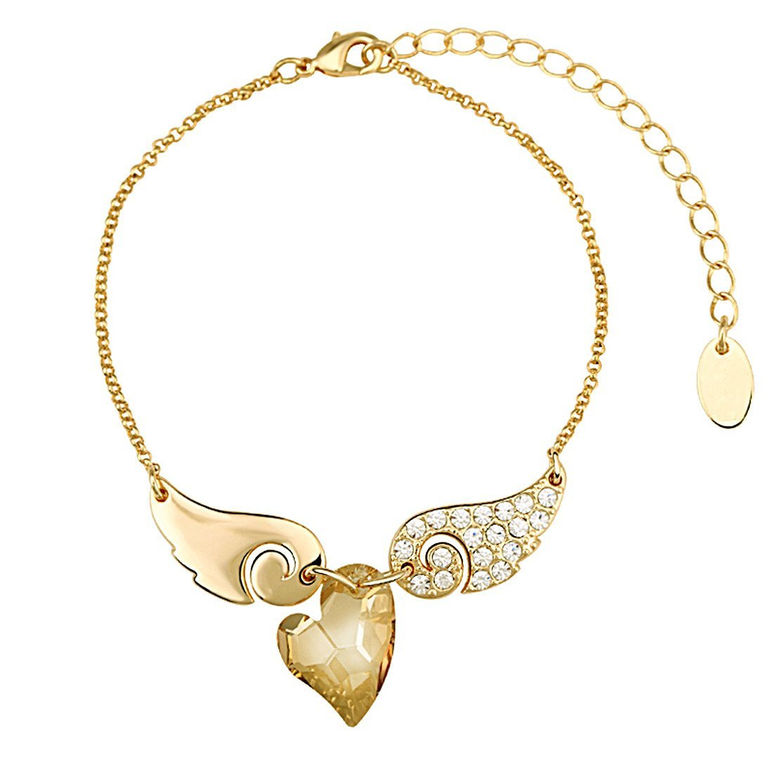 Heart Wings Charm Bracelet