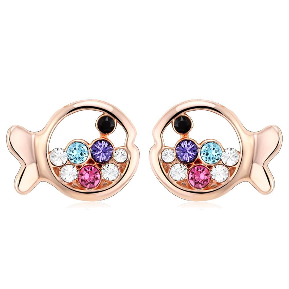 Multi Colour Fish Studs