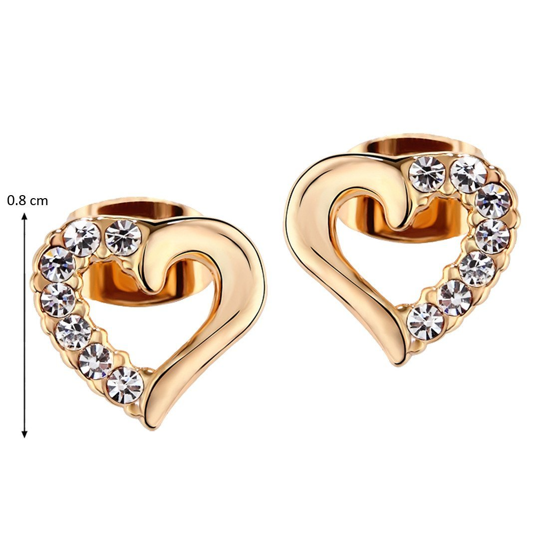 Heart Of Gold Studs