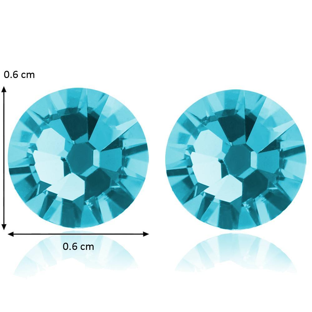 Sea Blue Crystal Studs