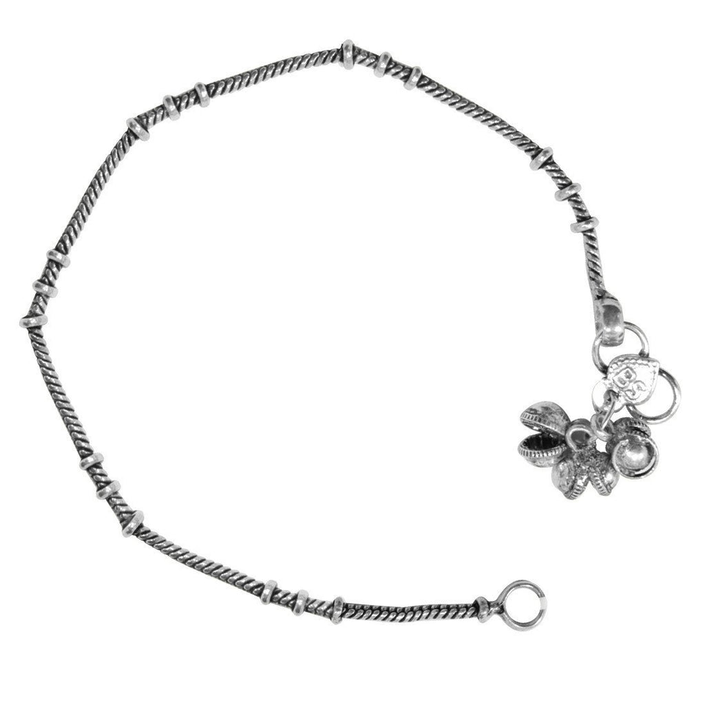 Sleek Oxidised Anklet