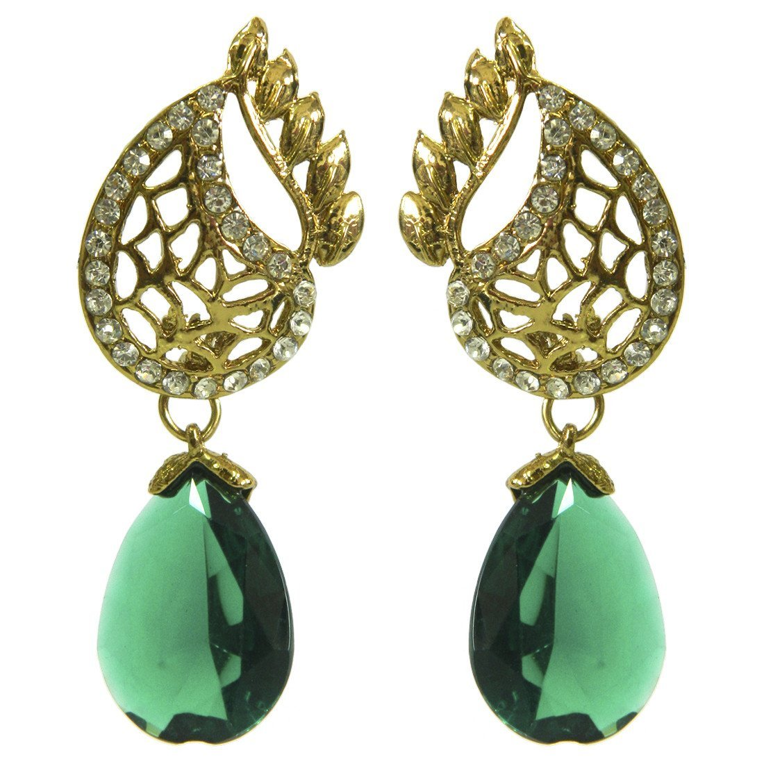 Antique Green Cut Out Drops