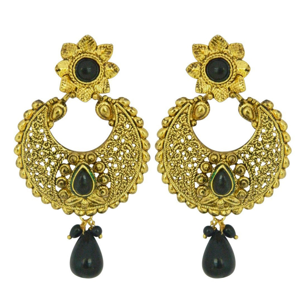 Black Temple Earrings