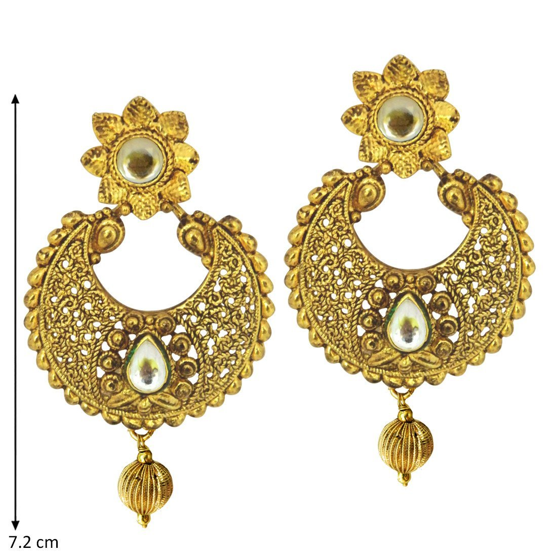 Kundan Temple Earrings