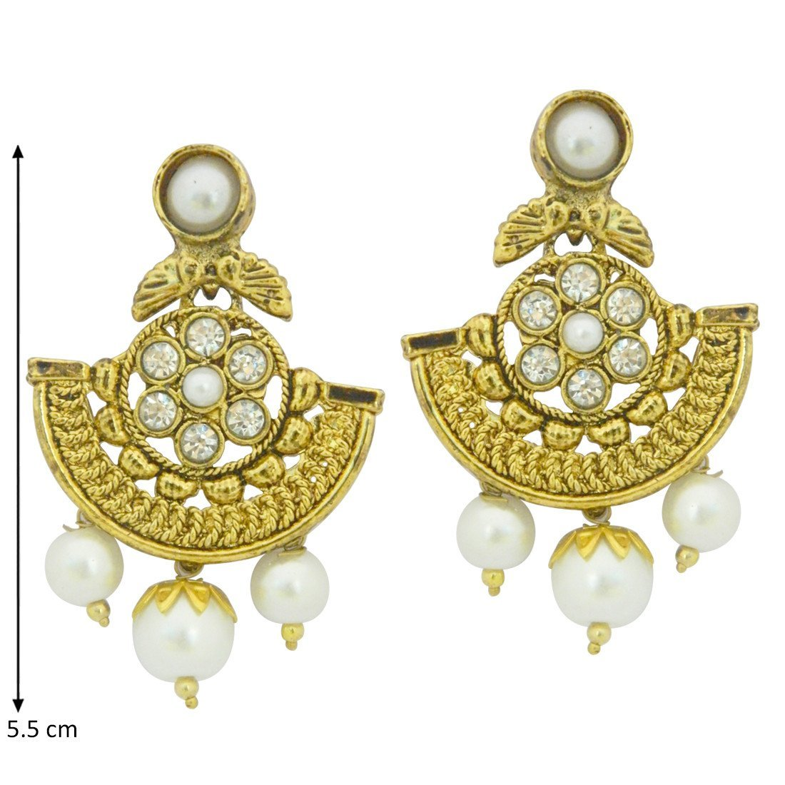 Pearl Temple Earrings