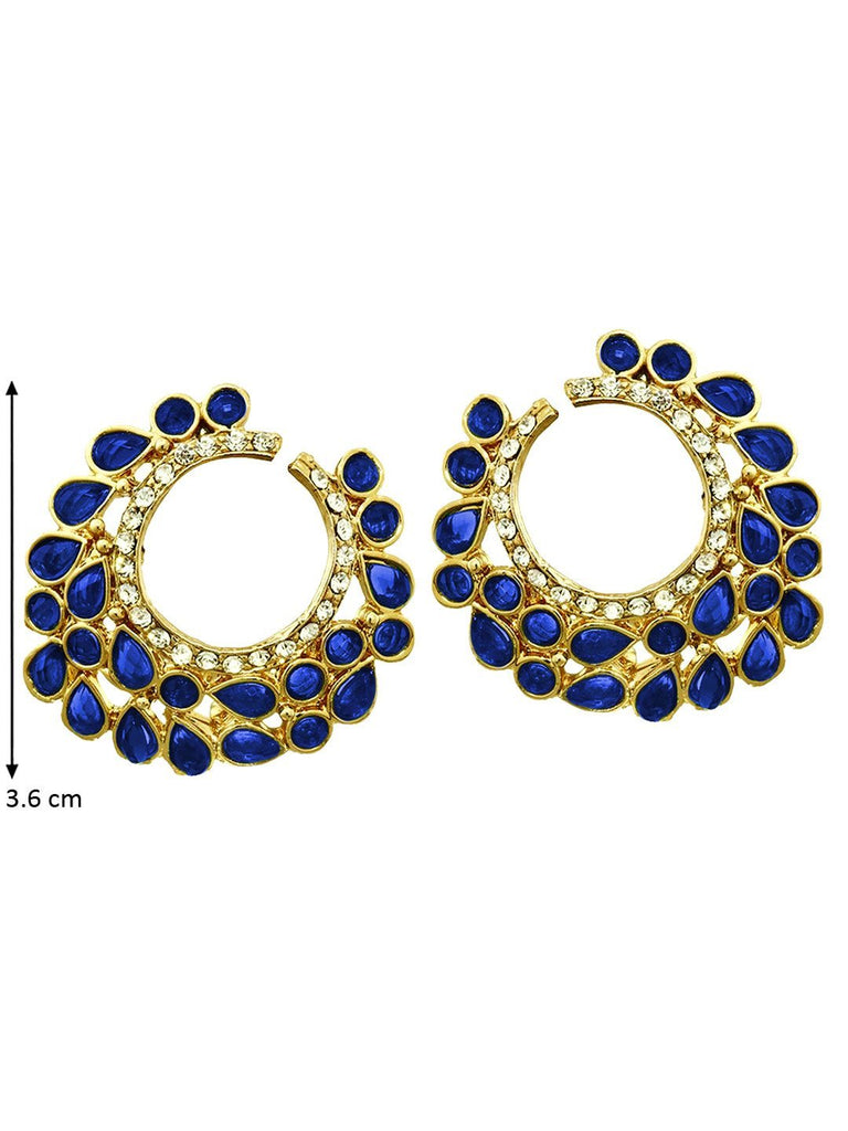 Crescent Blue Earrings