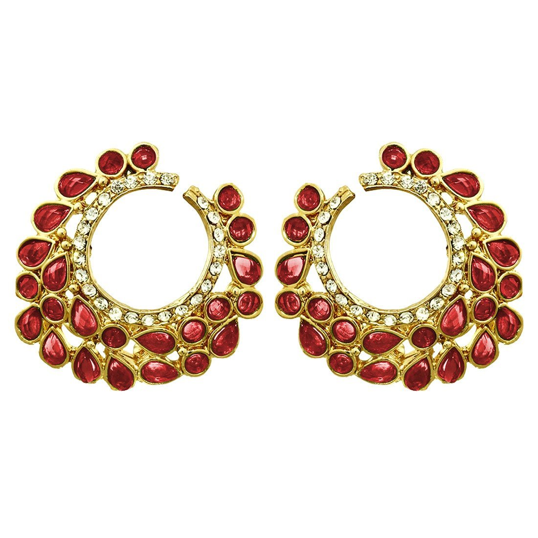 Crescent Red Earrings