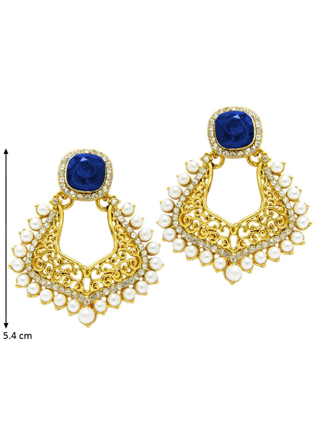 Blue Mughal Earrings