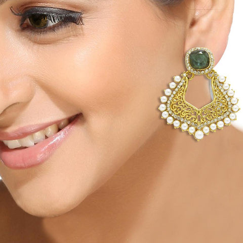 Green Mughal Earrings