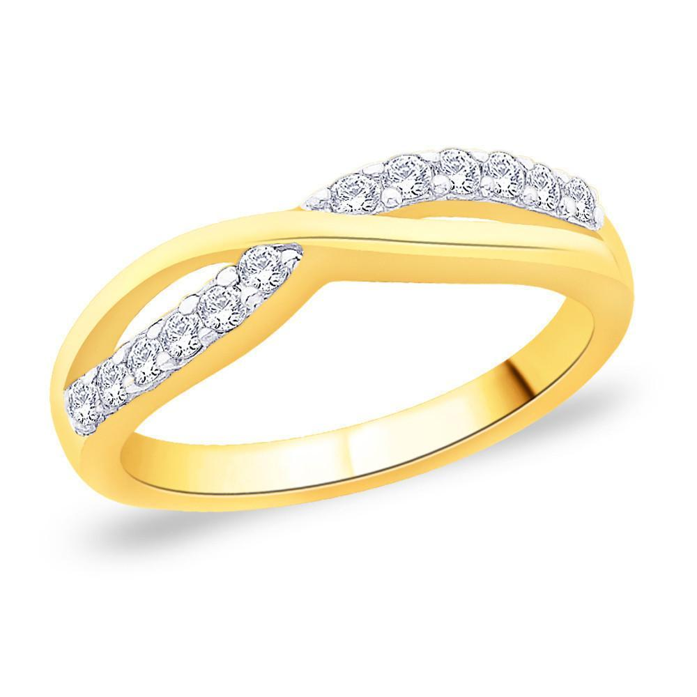 Fancy Golden Radiant Ring