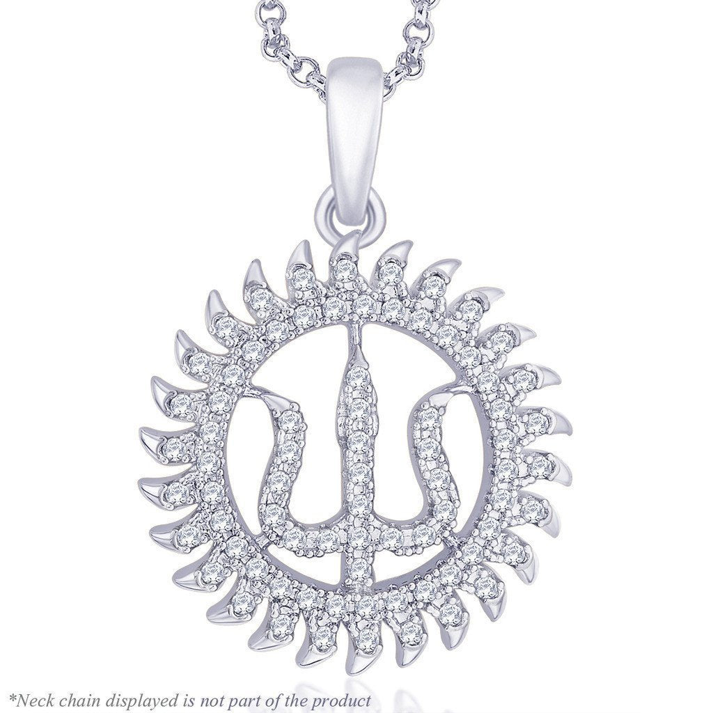 Trishul Pendant For Party Wear