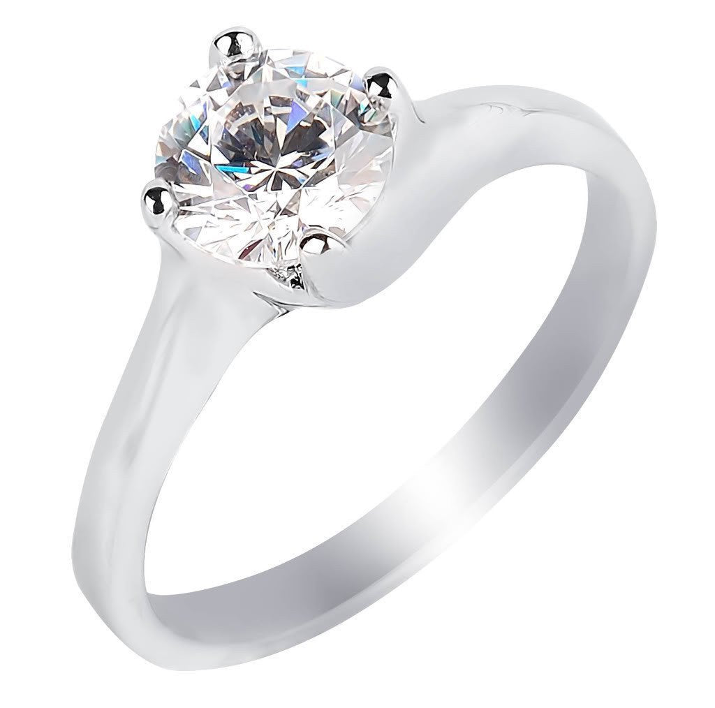 Lustrous Solitaire Ring