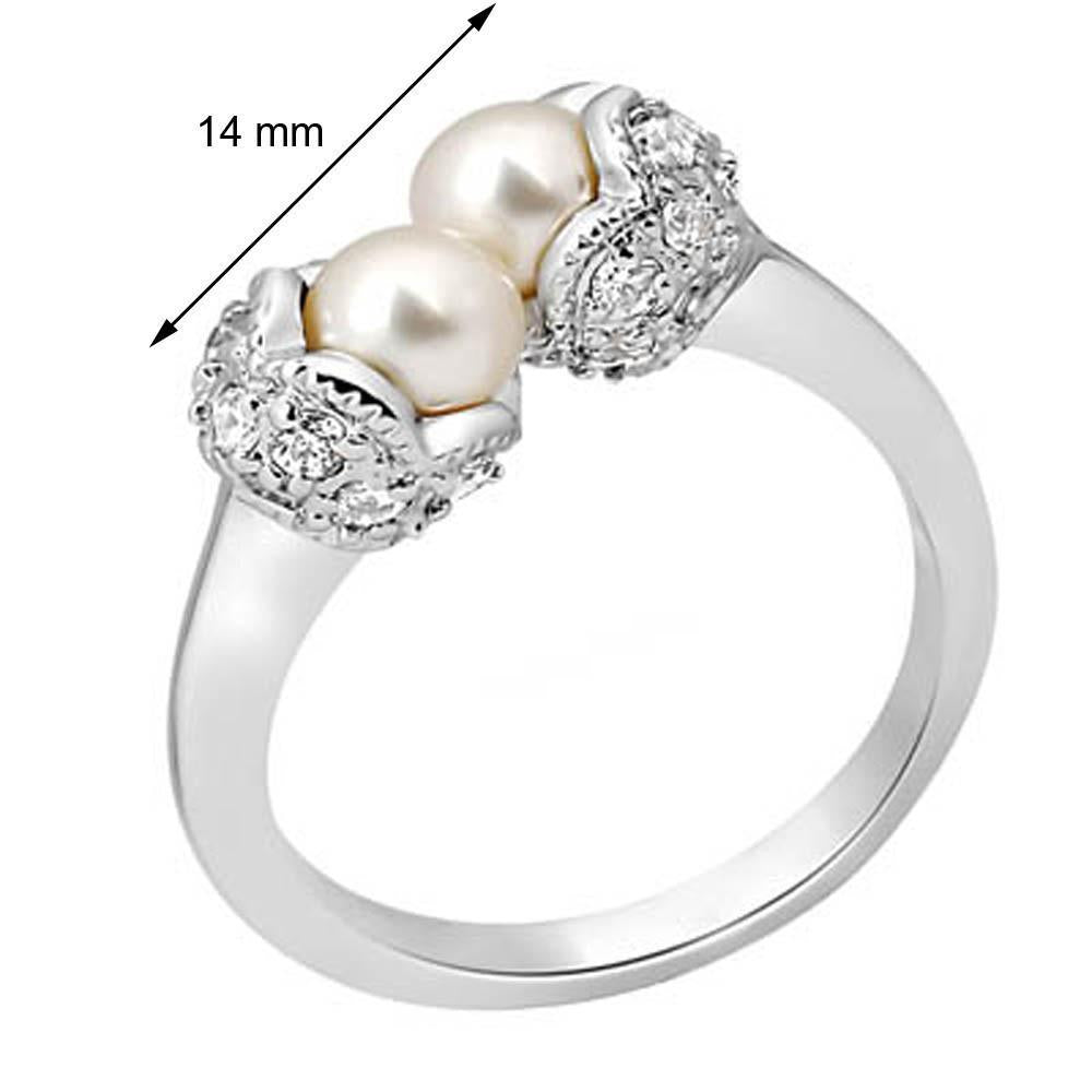 Cozy Twin Pearl Ring