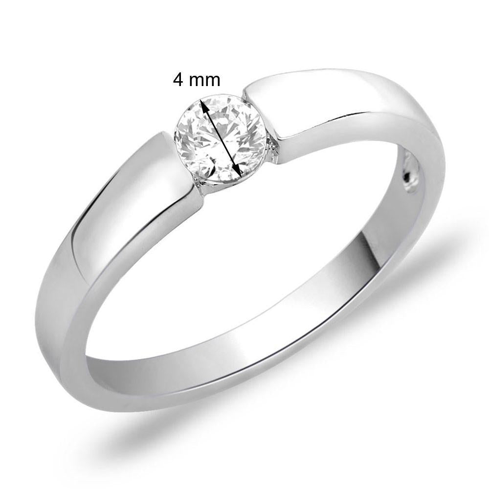 Pretty Solitaire Ring