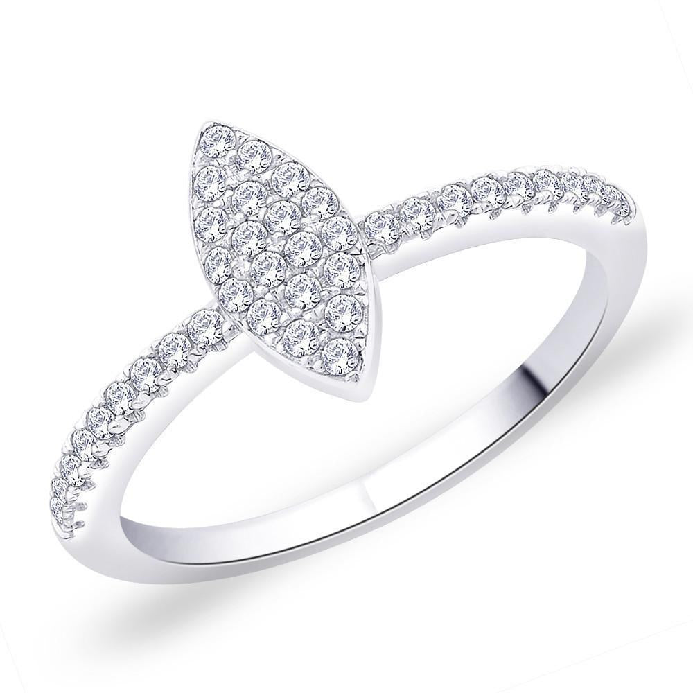 Elliptical Marquise Ring For Party Wear