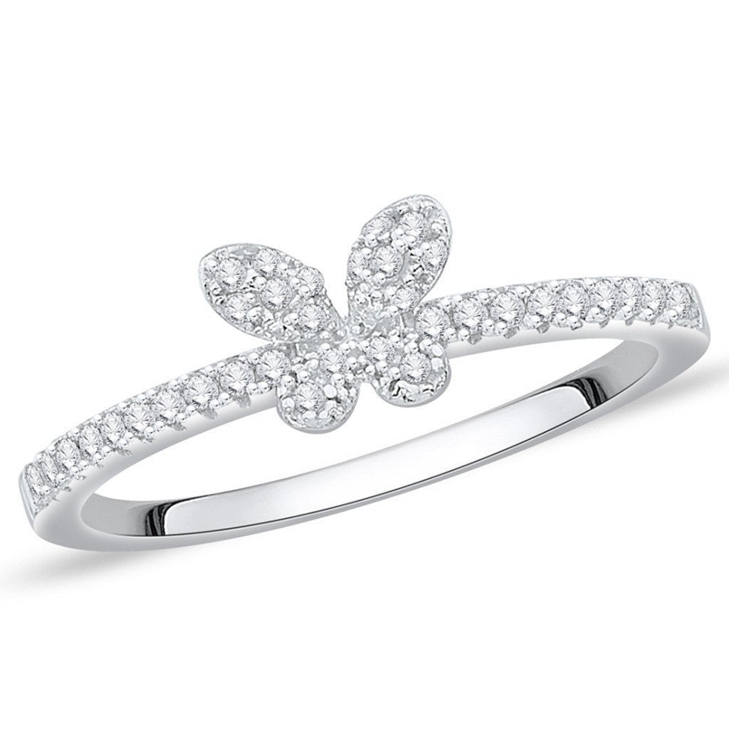 Cute Butterfly Ring For Party Wear