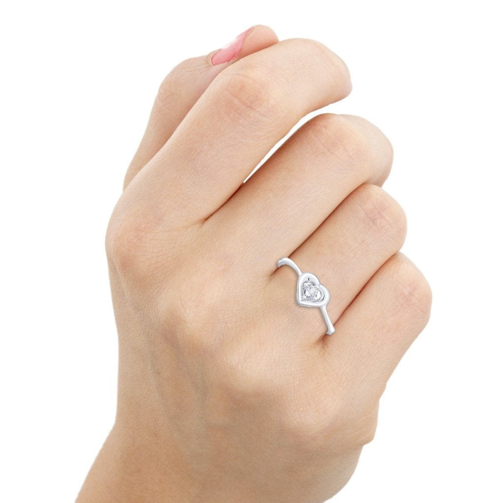 Cute Heart Ring For Party Wear