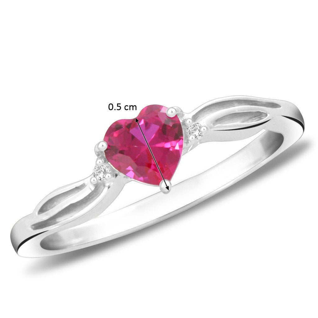 Pure Heart Ring For Party Wear