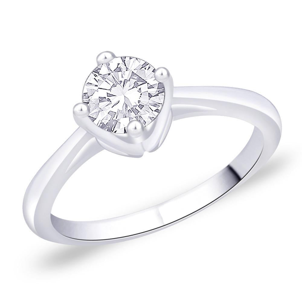 Cosset Solitaire Ring For Party Wear