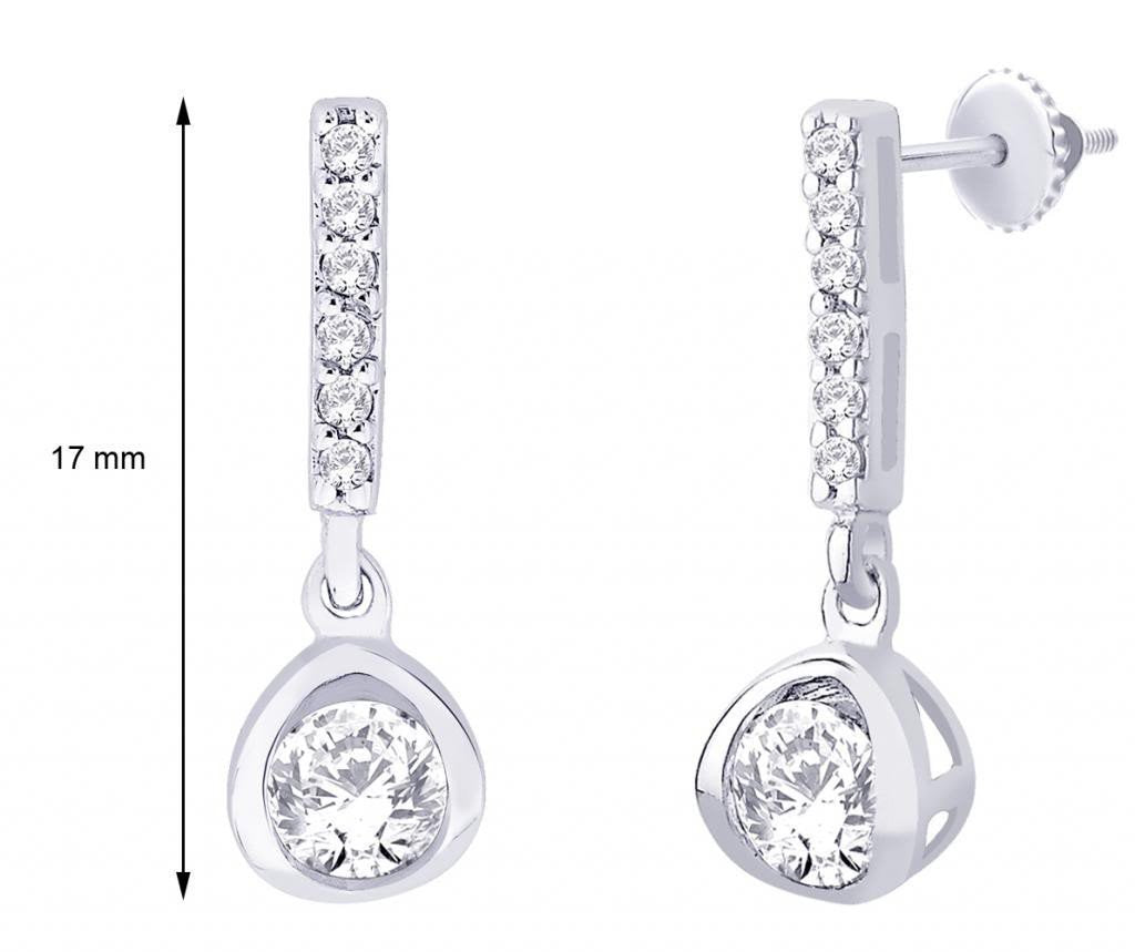 Long Elegant Plume Earrings