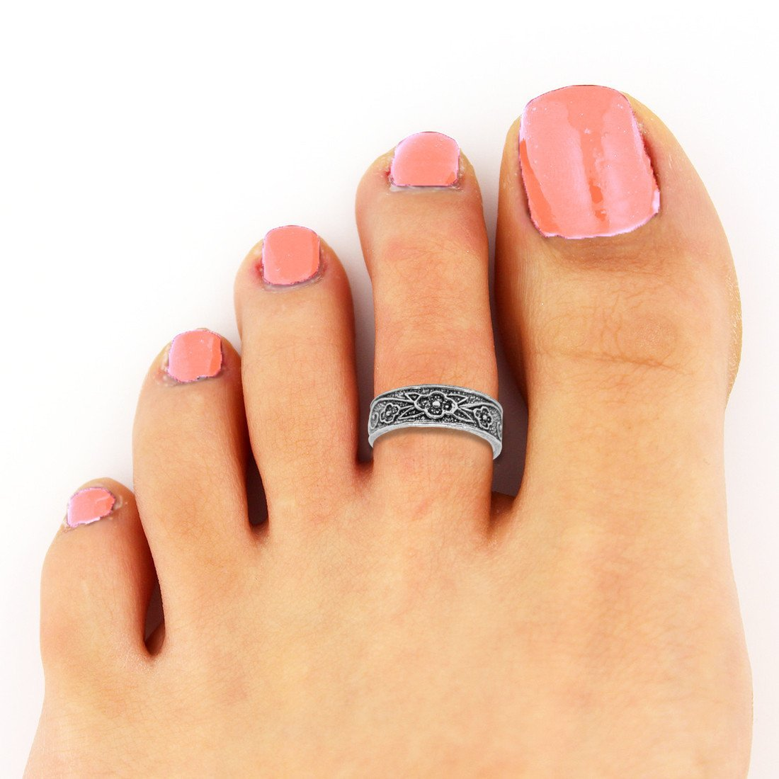 Floral Fetish Toe Rings