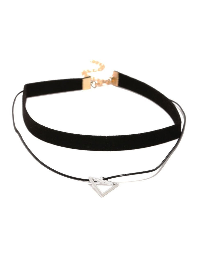 Black Triangle Choker Necklace