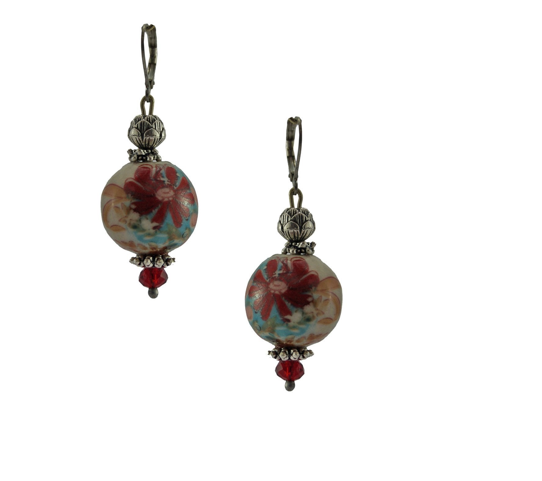 Red Mesmerizing Porclain Dangler