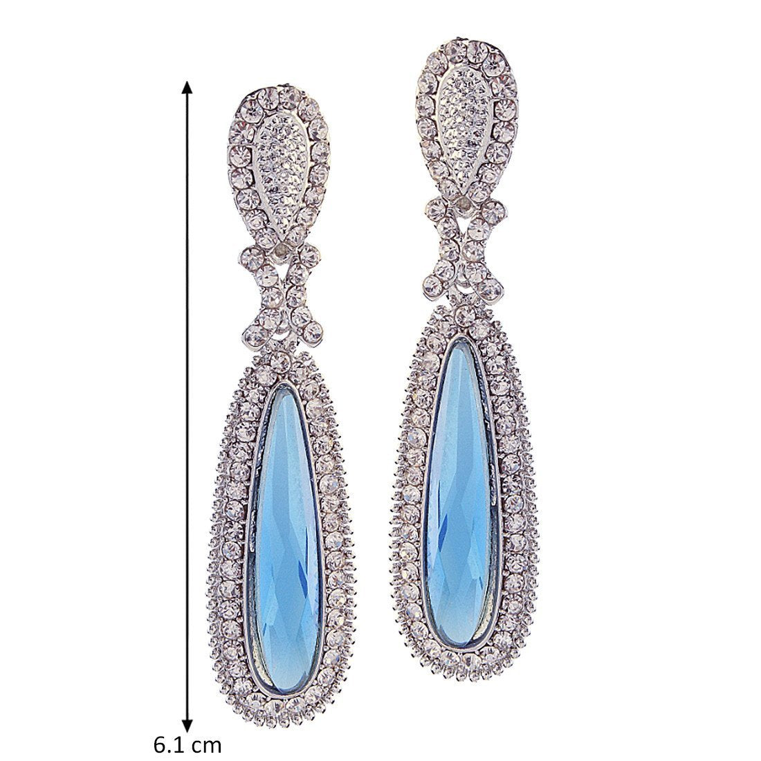 Ice Blue Glass Danglers