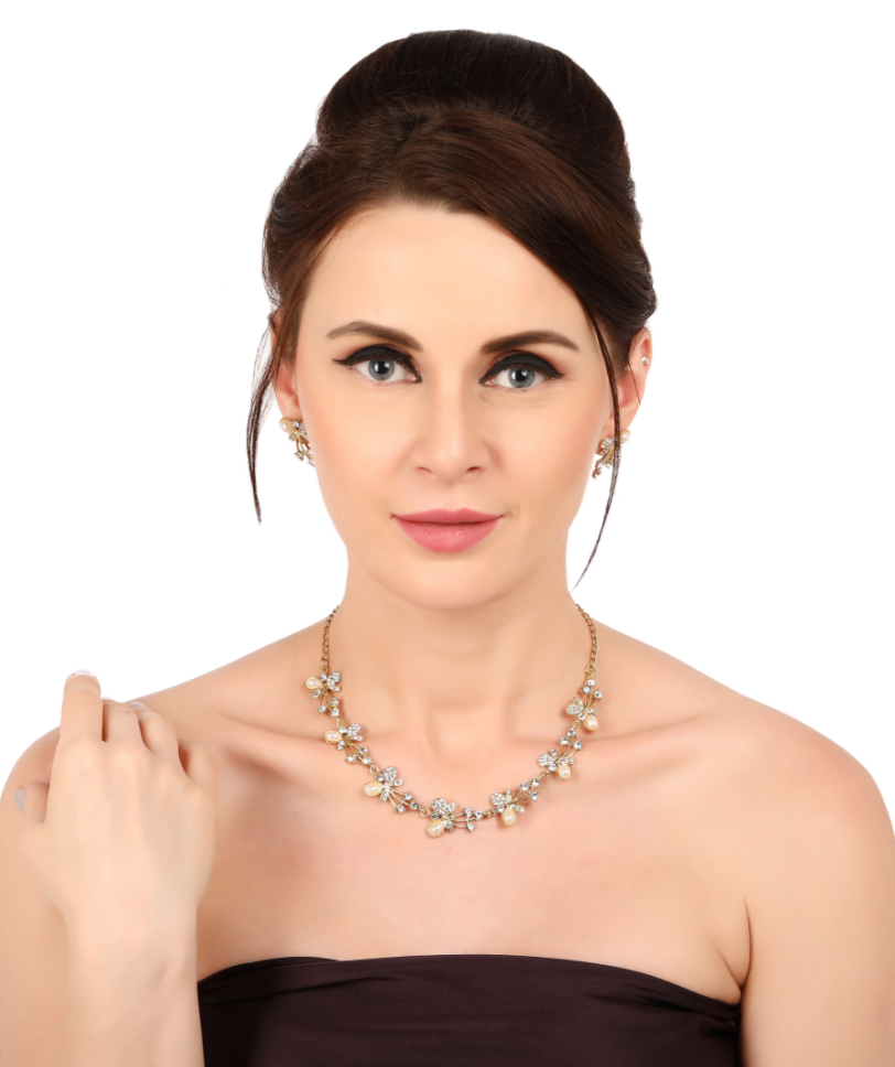 Zaveri Pearls Combo of 3 Crystal Look Fashion Necklace Set