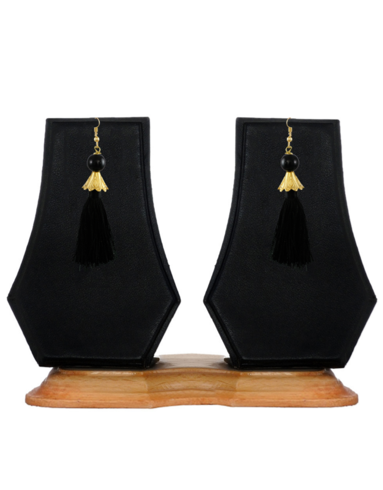 Zaveri Pearls Gold-Toned Tassel Drop Earring