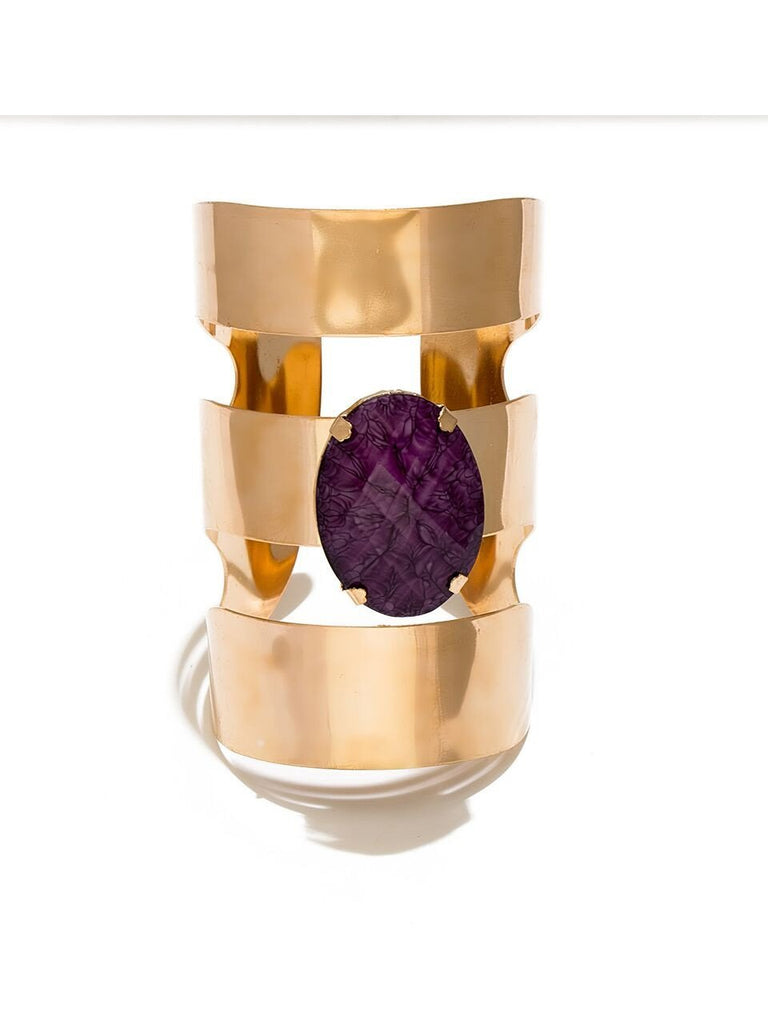 Metallic Blast Cuff - Purple