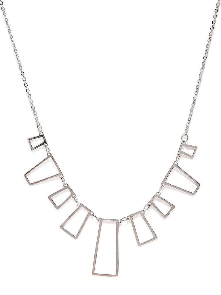 Silver Box Statement Necklace