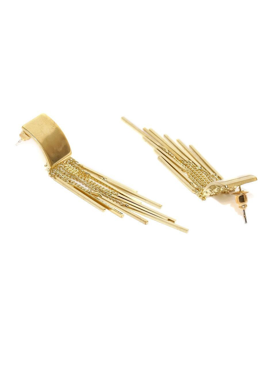 Gold Toned Dazzle Me Earrings