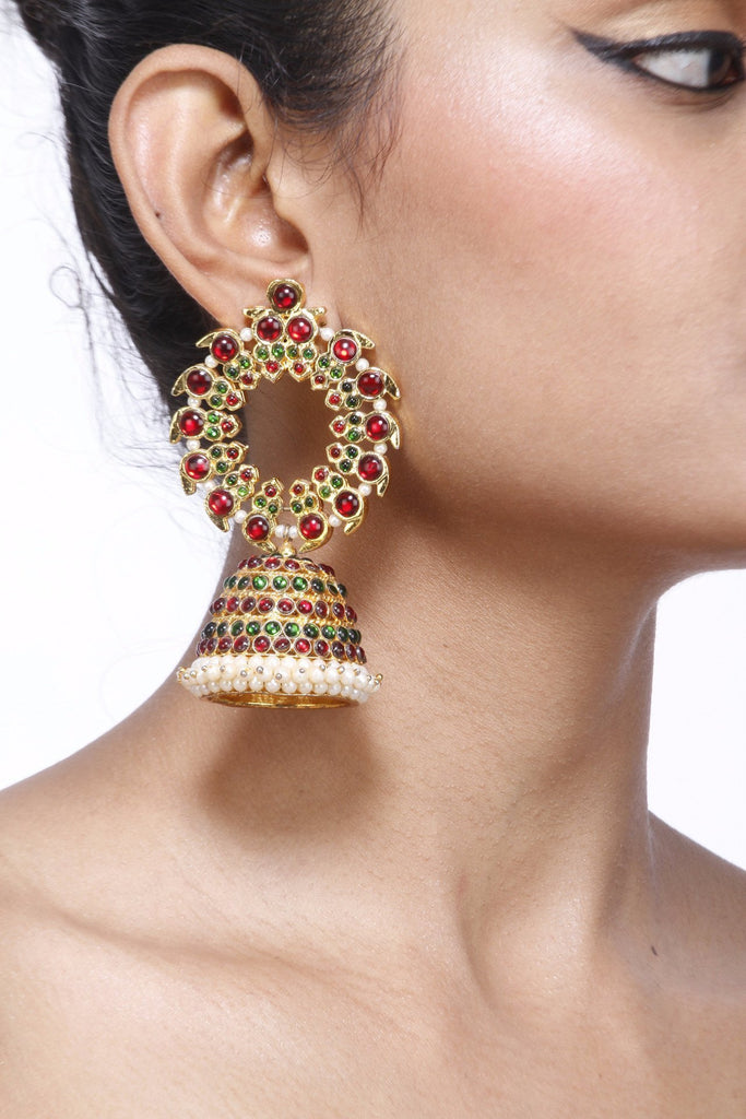 Full Moon Earring With Big Jhumka